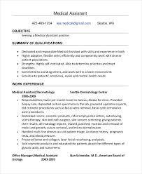 Medical Assistant Job Duties Resume Impressive 48 Medical Assistant Resume Templates PDF DOC Free Premium