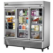 new used restaurant supplies equipment chicago tampa true t 72g ld 78 13 inch three section reach in refrigerator 3 glass door