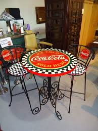 coca cola bistro table with two chairs