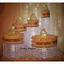 Asian Display Stands Cake Stand Cascade waterfall crystal set of 100 AsianWedding Crystal 72
