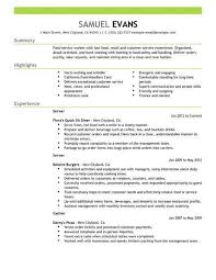 Examples Of Resumes For Restaurant Jobs Amazing Best Fast Food Server Resume Example LiveCareer