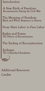 america s reconstruction people and politics after the civil war