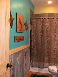 western bathroom designs. Sassy Cowgirl Kitchen That Is Dressed Up With Turquoise Paint And A Cheetah Shower Curtain. Western BathroomsWestern Bathroom Designs M