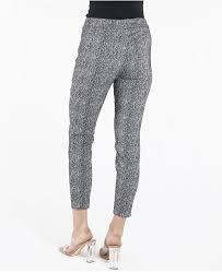 Pull On Textured Slim Leg Pants