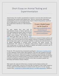 animal testing and experimentation short essay by worth issuu short essay on animal testing and experimentation animal testing is the scientific experimentation of animals to assess the safety and effectiveness of