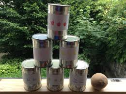 Diy Outdoor Games Diy Kids Lets Make A Fun Game Out Of Cans Youtube