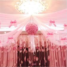 Wedding Decoration Tulle Flower Ball Centerpieces Rose Pompom Bachelorette  Party Decorative Artificial Flowers Foam Decor