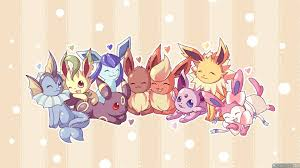 Pokemon Bedroom Wallpaper Eevee Evolutions Wallpapers Wallpaper Cave