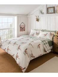 pheasant 100 cotton reversible duvet set natural