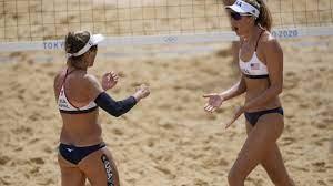 Watch: Beach volleyball duo April Ross ...