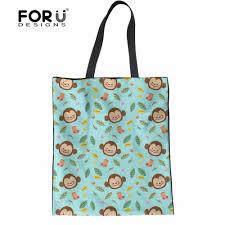 <b>FORUDESIGNS Cartoon</b> Women <b>Fashion</b> Cotton Tote Bags Animal ...