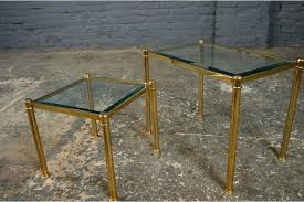 3 4 a vintage retro regency brass gold glass side tables table