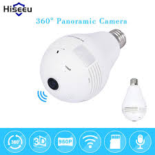 Light Bulb 360 Degree Panoramic Home Security Wifi Camera Mak Rack