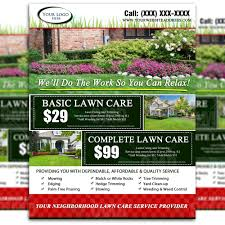 lawn care advertising templates lawn care flyer desi on garden and landscaping flyer templates