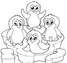 Cute Penguins Coloring Pages Printable Coloring For Kids 2019