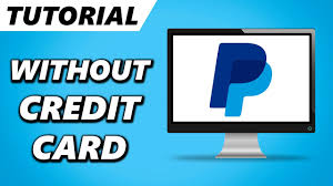 make paypal account without credit card