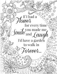 Free Printable Flower Quote Coloring Pages Coloring Pages
