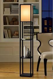 floor lamp office. wooden framed 3 shelf rectangular floor lamp light with shelves detailed a office