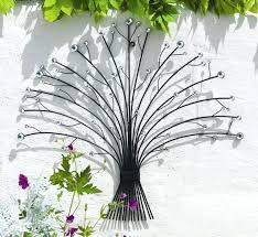 garden wall art metal uk