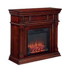 style selections 42 in w 4 800 btu cherry wood fan forced electric fireplace