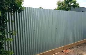 Corrugated Steel Fence Corrugated Metal Fence Image Of Grey