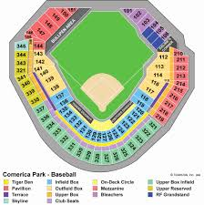 Virtual Seating Chart Comerica Park 37 Actual Comerica Park Seating