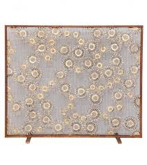 constellation fireplace screen is made to order in steel and bronze and features two diffe size decorative medallions comes with mesh backing for