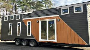 Small House On Wheels Tiny House On Wheels Modern 2 Lofts L Shaped Kitchen Full Sized