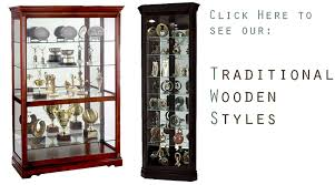 classic wooden showcases