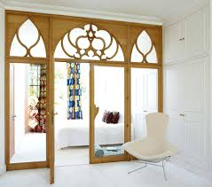 ... Room Divider Doors With Sheepskin Decorative Pillows Bedroom Eclectic  And White Wall Spare Sliding Ikea: