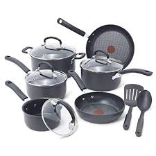 pots and pans in dishwasher. Brilliant Pans Anodized Scratch Resistant Titanium Nonstick ThermoSpot Heat Indicator  AntiWarp Base Dishwasher Safe Oven PFOA Free Cookware Set 12Piece Gray Throughout Pots And Pans In