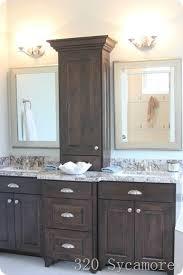 bathroom sink vanity cabinet. i like this bathroom vanity with storage between the two sinks! | home - pinterest vanities, sinks and vanities sink cabinet