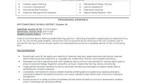 Student Teacher Resume Sample Best Of Resume Templates Of A Teacher Delijuice