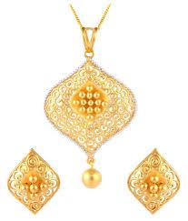 tbz the original 22k bis hallmark yellow gold pendant set tbz the original 22k bis hallmark yellow gold pendant set in india on snapdeal
