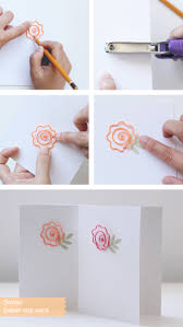 Flower Paper Clips Diy Paper Clip Cards Blooms In The Air