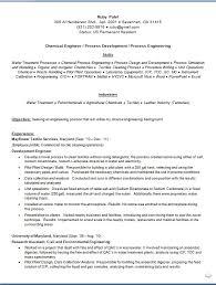 Chemical Engineer Resume Format In Word Free Download