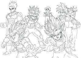 Easy Dragon Ball Z Coloring Pages Free Printable Coloring Easy