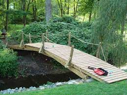 backyard bridges garden bridge wooden