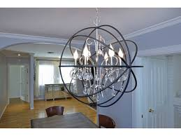 maxim lighting orbit anthracite polished nickel six light 25 wide chandelier