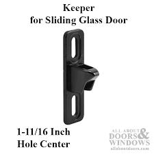 keeper sliding patio door cast wide 3 4 inch black