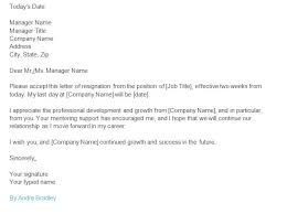 Two Weeks Notice Resignation Letter Examples Pdf Examples