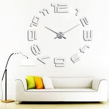 hungary wall clock diy cubic black
