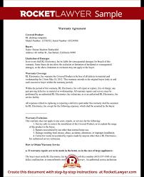warranty template word warranty agreement template warranty agreement with sample