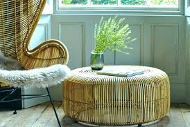 rattan ottoman wicker coffee table with glass top outdoor wicker chairs with ottomans rattan ottoman round