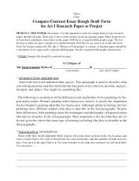 peer review compare contrast essay compare contrast essay rough draft form for art i research paper