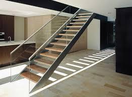 Metal Handrail Staircase Contemporary with Arbeitsplatte Blockfurnier  Contemporary Design Design Glass Panel