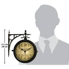 round outdoor wall clock