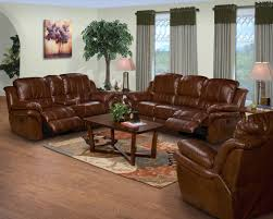 Reclining Living Room Furniture Sets 2 Pc Brown Leather Match Cabo Standard Motion Reclining Sofa And