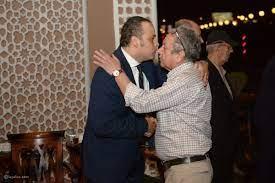 صور عادل إمام ومحلب وعلاء مبارك في عزاء والدة تامر عبد المنعم - ليالينا
