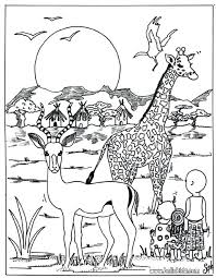Leopard Coloring Pages Wild Animal Coloring Pages Kid And Leopard